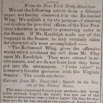 Image of article on John Randolph and H