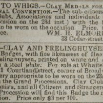 Image of Clay medal and ribbon ads