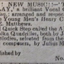 Image of sheet music ad