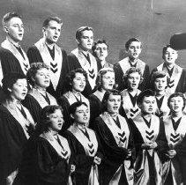 Image of Eastern High School Madrigal Choir, December 1954