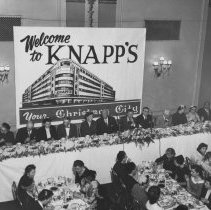 Image of Knapp's Co-Workers' Banquet at Hotel Olds, 1953