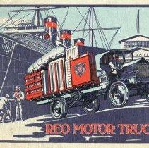 Image of REO Motor Trucks catalog circa 1916, Coll. No. 365