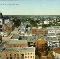 Image of Bird's-eye View of  Lansing Michigan - 2015-01-001.V01.052