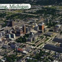 Image of Lansing, Michigan, Aerial View - 2015-01-001.V01.071