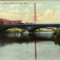 Image of Michigan Avenue Bridge, Lansing, Michigan - 2015-01-001.V01.074