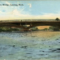 Image of Michigan Avenue Bridge, Lansing, Michigan - 2015-01-001.V01.075a