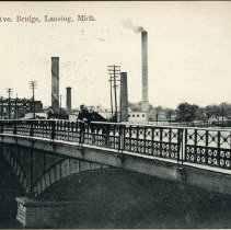Image of Michigan Avenue Bridge, Lansing, Michigan - 2015-01-001.V01.078