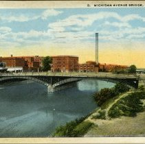 Image of Michigan Avenue Bridge, Lansing, Michigan - 2015-01-001.V01.079a