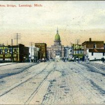 Image of Michigan Avenue Bridge, Lansing, Michigan - 2015-01-001.V01.081a