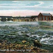 Image of Michigan Power Company Dam, Lansing, Michigan - 2015-01-001.V02.031