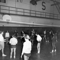 Image of Sexton High School Girls' Gym Class, November 1955
