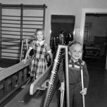 Image of Walnut Street School Orthopedic Students, 1955