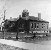 Image of South Street School (Third Ward School) in about 1892