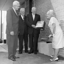 Image of Cornerstone Laying, Dwight Rich Junior High School, 1963