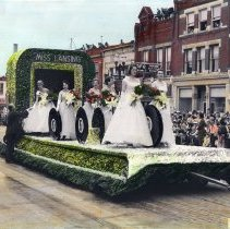 Image of Miss Lansing Float, Lansing Centennial Parade