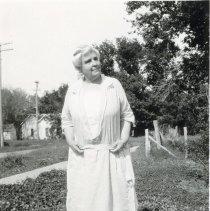Image of Older Woman on Sidewalk - 2010-06-001.008.194