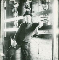 Image of Employee Inside Interurban Power Sub-Station - 2011-10-001.Reed17