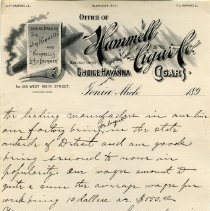 Image of Hammell Cigar Co. Letterhead