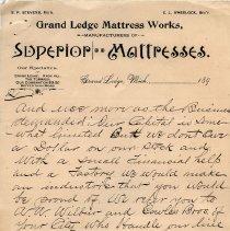 Image of Grand Ledge Mattress Works Letterhead p. 2
