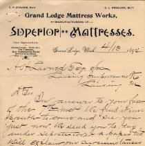 Image of Grand Ledge Mattress Works Letterhead - 2014-11-001.LLH008