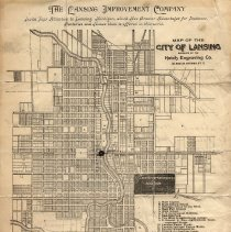 Image of Lansing Improvement Company Letterhead, Lansing Map on Reverse