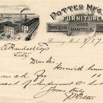 Image of Potter Mfg. Co. Letterhead - 2014-11-001.LLH016