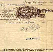 Image of Genesee Fruit Company Letterhead