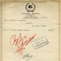 Image of Gladmer Theatre Letterhead