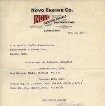 Image of Novo Engine Co. Letterhead