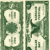"Image of City of Lansing Dollar Day Bargain Festival ""Dollars"""