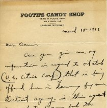 Image of Foote's Candy Shop Letterhead