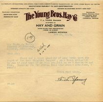 Image of Young Bros. Hay Co. Letterhead