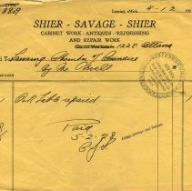 Image of Shier-Savage-Shier Letterhead