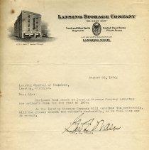Image of Lansing Storage Company Letterhead