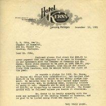 Image of Hotel Kerns Letterhead