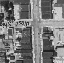 Image of Aerial View of Intersection of Shiawassee Street and North Washington Avenue, Lansing  - 2015-06-003.V1.006