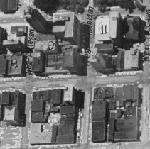 Image of Aerial View of Eight Blocks Around Michigan and Washington Avenues in Downtown Lansing.  - 2015-06-003.V1.007