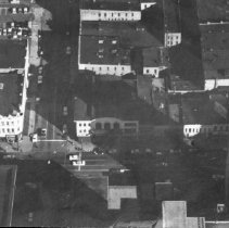 Image of Aerial View of Three Blocks on Washington Avenue in Downtown Lansing.  - 2015-06-003.V1.011