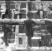 Image of Aerial View of Almost Eight Blocks Along Washington Avenue in Downtown Lansing.  - 2015-06-003.V1.012