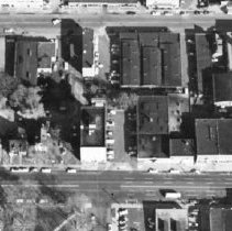 Image of Aerial View of Three Blocks Between North Washington Avenue and North Grand Avenue in Downtown Lansing.  - 2015-06-003.V1.013