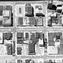 Image of Aerial View of 14 Blocks Along Washington Avenue, Downtown Lansing.  - 2015-06-003.V1.014