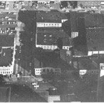 Image of Aerial View of Three Blocks Along Washington Avenue, Downtown Lansing.  - 2015-06-003.V1.015a