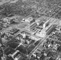 Image of Aerial View of State Government Complex and Surrounding Area, Downtown Lansing - 2015-06-003.V1.017