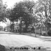 Image of West Allegan Street looking west from Huron Street. - 2015-06-003.V1.020
