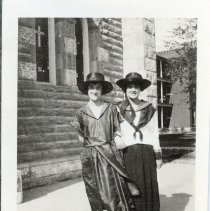 Image of Mead Sisters Posing on Sidewalk - 2010-06-001.008.305