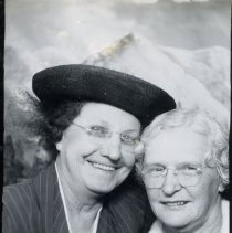 Image of Women by a Mountain Backdrop