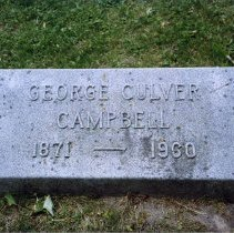 Image of Grave Marker for George Culver Campbell