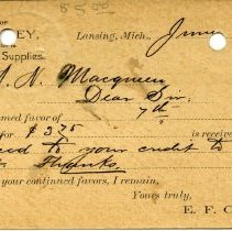Image of Office of E. F. Cooley, Wholesale Dealer in Mill and Well Supplies.  - 2015-01-001.V03.034