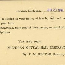 Image of Michigan Mutual Hail Insurance Company - 2015-01-001.V04.006