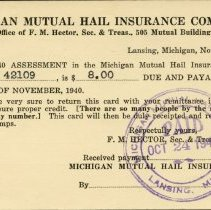 Image of Michigan Mutual Hail Insurance Company - 2015-01-001.V04.007